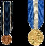 Medaglie d'oro al Valor di Marina, al Merito di Marina e d'onore per Lunga Navigazione